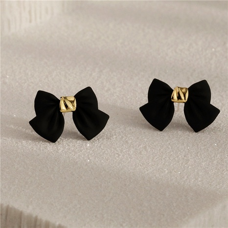 S925 Silver Needle Bow Earrings  NHPF294813's discount tags