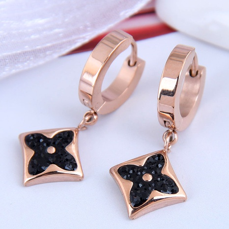 Korean fashion titanium steel personalized earrings NHSC295194's discount tags