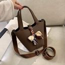 new pattern wide band shoulder messenger lady portable vegetable basket silk scarf bag NHTG294851