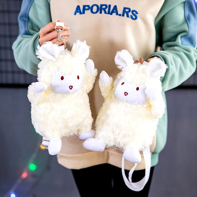 new lamb doll plush bag lamb children shoulder messenger bag NHTG294854