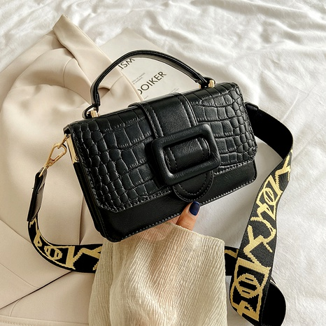 new fashion crocodile pattern shoulder messenger small square bag NHTG294856's discount tags