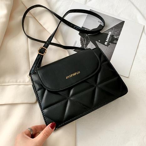 rhombus new trendy simple shoulder bag NHRU294921's discount tags