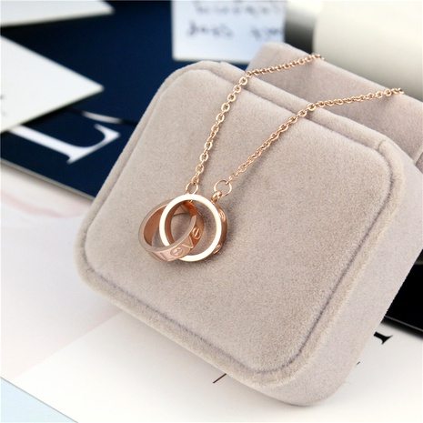Titanium steel love letter screwdriver rose gold necklace NHIQ294993's discount tags