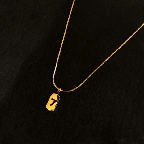 Titan Stahl Halskette vergoldete Halskette NHIQ295001's discount tags