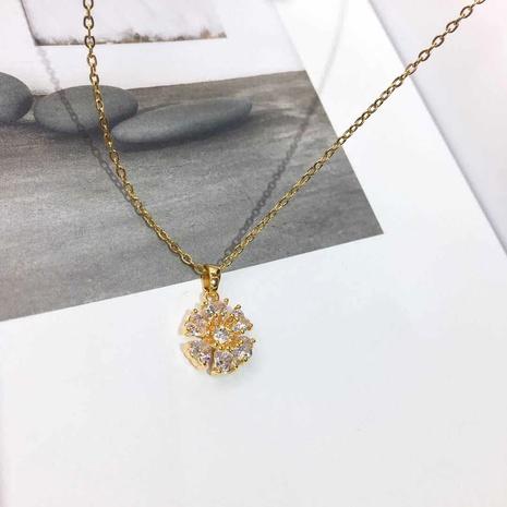 Titan-Stahl vergoldete Mode Zirkon Halskette NHIQ295002's discount tags