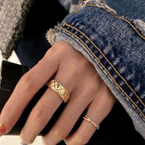 exquisite golden open ring  NHYQ295024's discount tags