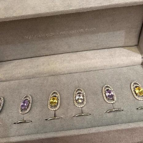 modischer offener Ring aus Diamantzirkon NHYQ295028's discount tags