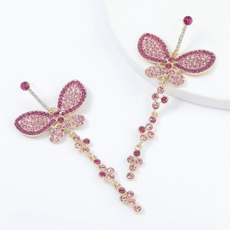 pendientes de alas de mariposa de diamantes de imitación de aleación NHJE295053's discount tags