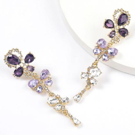 pendientes de diamantes de imitación de aleación NHJE295059's discount tags
