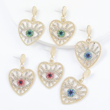 Fashion alloy diamond-studded earrings  NHJE295062's discount tags