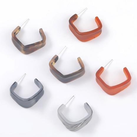 C-shaped irregular resin earrings NHJE295065's discount tags