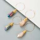 crystal buds copper wire retro earrings NHLN295097