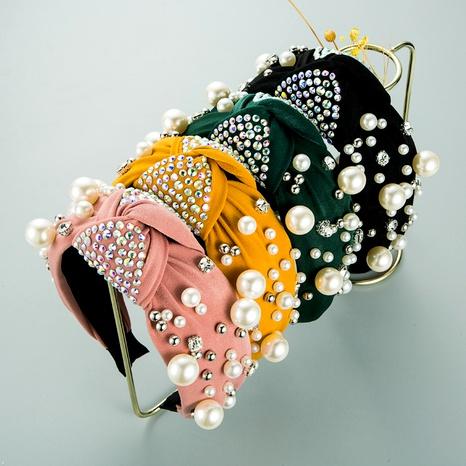 diadema de diamantes de perlas de ala ancha de moda NHLN295099's discount tags