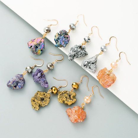 pendientes irregulares de cristal de moda NHLN295109's discount tags