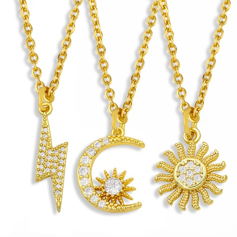 simple wild sun moon diamond necklace NHAS295132's discount tags