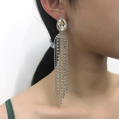 fashion long tassel earrings  NHMD295136's discount tags