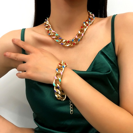 fashion new chain necklace bracelet  NHMD295148's discount tags