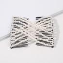pearls doublerow retro hair clip NHMD295157