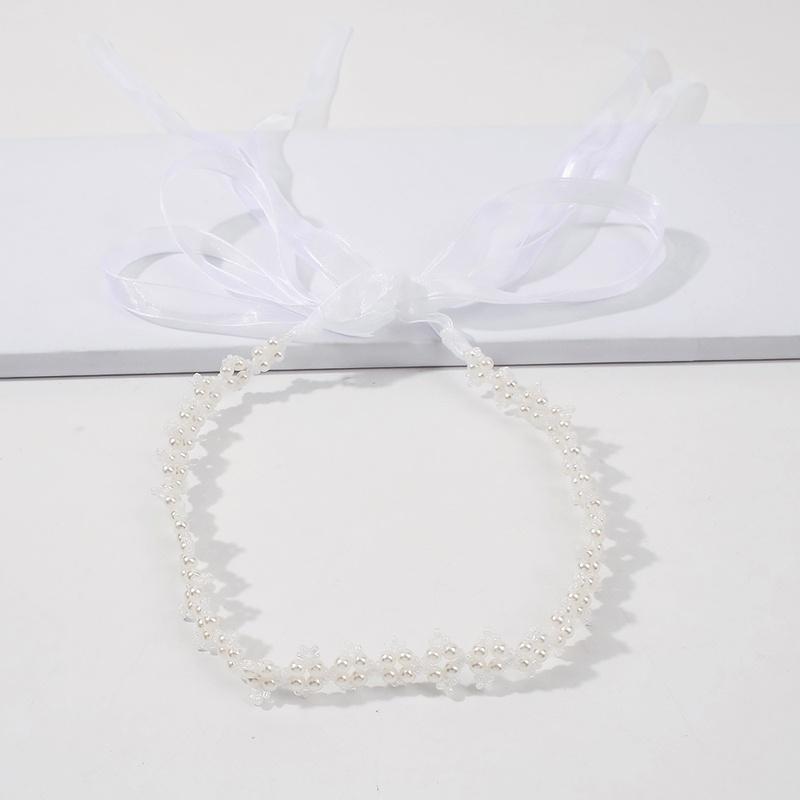 imitation pearl ribbon hairband NHMD295159