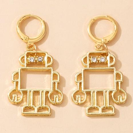 pendientes de diamantes robot de moda NHGY295176's discount tags