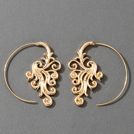 fashion semicircle flower retro earrings  NHGY295180's discount tags