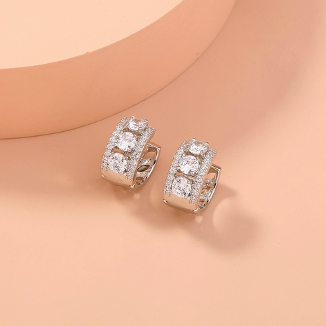 aretes de circonitas con incrustaciones de cobre y piedras preciosas simples NHAN295284's discount tags