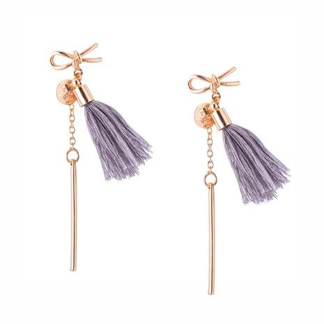 Bohemian long tassel earrings NHPF295303's discount tags