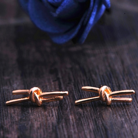 knotted bow earrings NHPF295305's discount tags