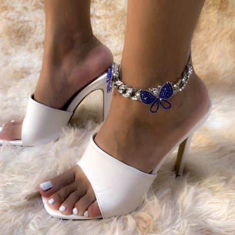 retro full diamond small butterfly anklet  NHXR295314's discount tags