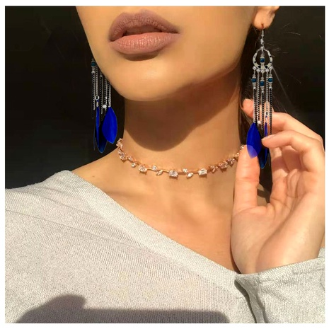 Bohemian alloy feather earrings NHCT295327's discount tags