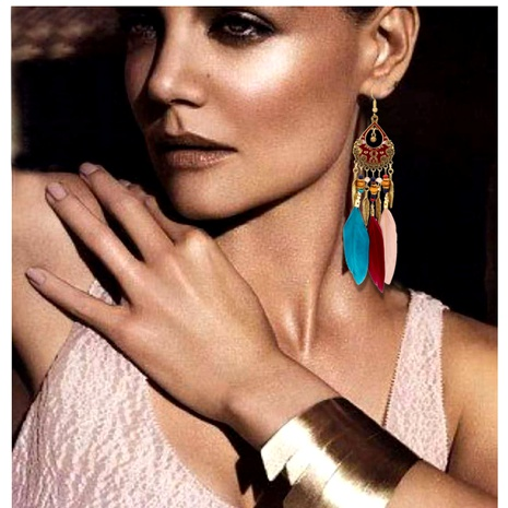 feather tassel earrings  NHCT295328's discount tags