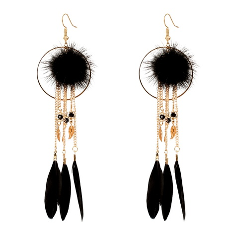 Bohemian retro feather earrings  NHCT295338's discount tags