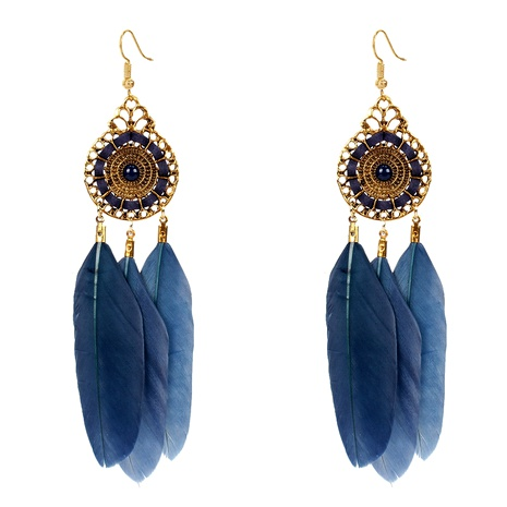 Bohemian feather earrings  NHCT295344's discount tags