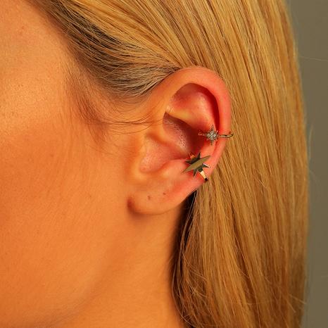 copper zircon stars adjustable ear clip set NHLU295359's discount tags