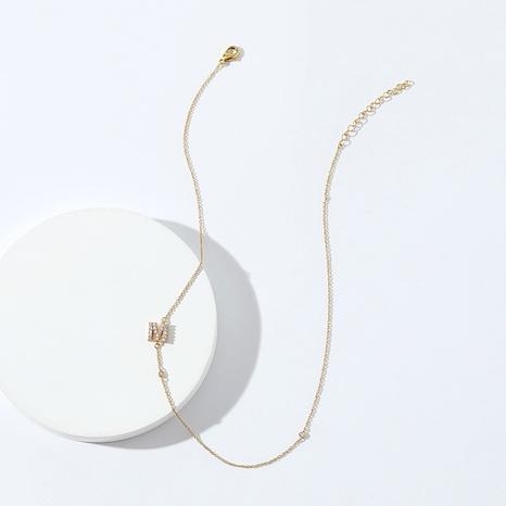 collier en or véritable avec lettre en cuivre et zircon NHLU295363's discount tags