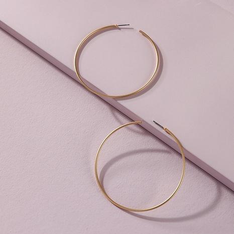 fashion copper wire hoop earrings  NHLU295370's discount tags