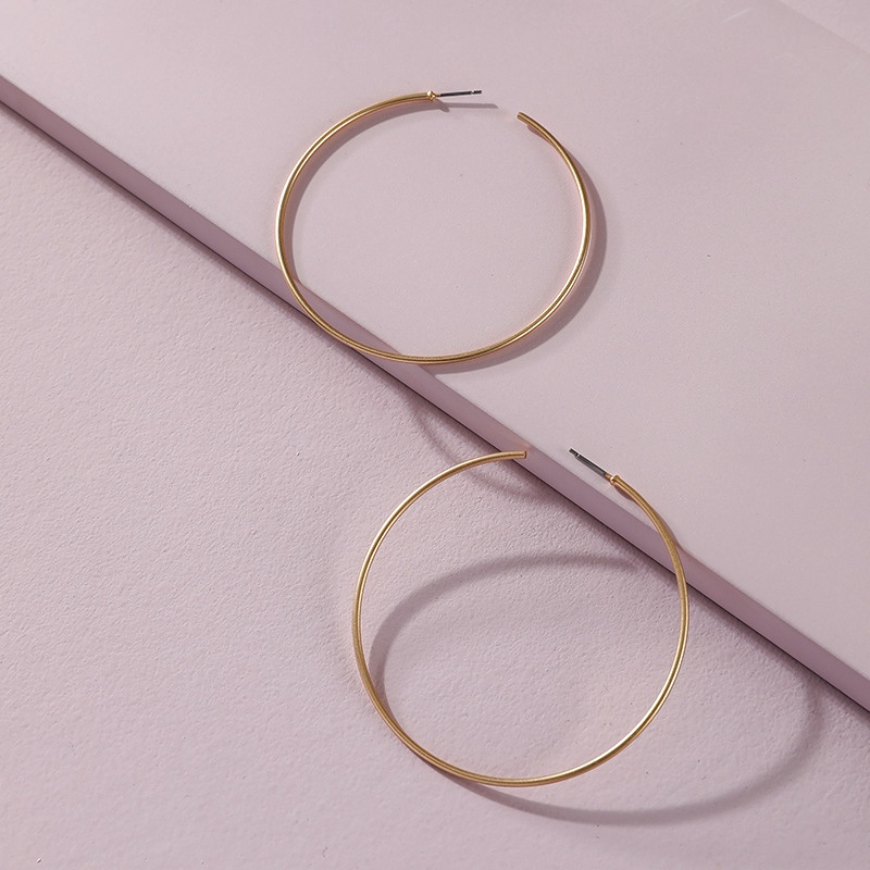 fashion copper wire hoop earrings  NHLU295370