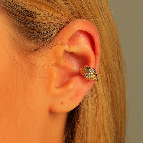 brass adjustable zircon skull ear clip NHLU295373's discount tags