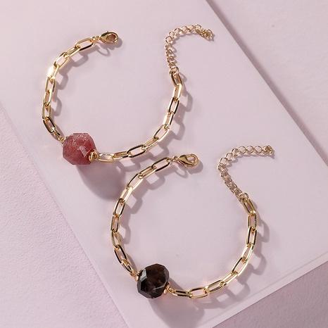 bracelet en pierre naturelle multi-facettes NHLU295378's discount tags