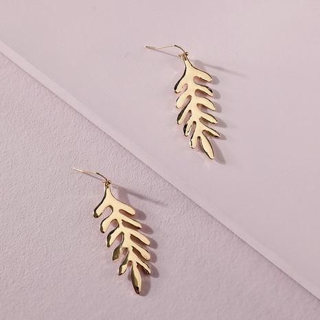 plant leaf earrings NHLU295381's discount tags