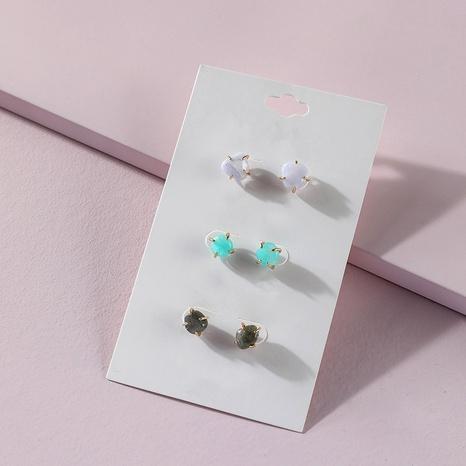 pink crystal copper inlaid earrings NHLU295380's discount tags