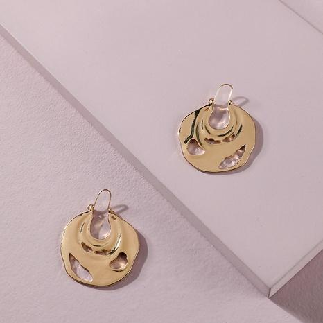 alloy irregular round earrings  NHLU295382's discount tags