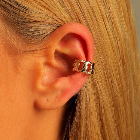 adjustable hollow chain ear clip NHLU295384's discount tags