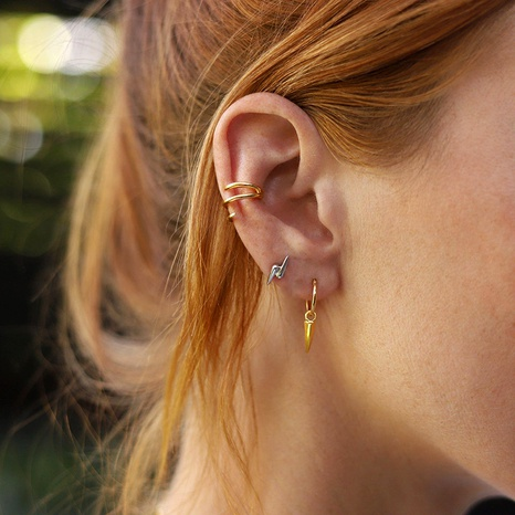 alloy lightning arrow ear clip 3-piece set NHLU295395's discount tags
