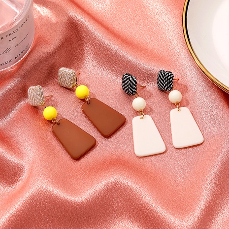hit color houndstooth woven stitching earrings NHDP295427's discount tags