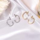 microinlaid zircon letter T earrings NHDP295437