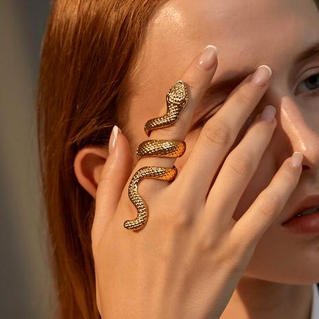 anillo retro de metal estilo serpiente punk NHDP295439's discount tags