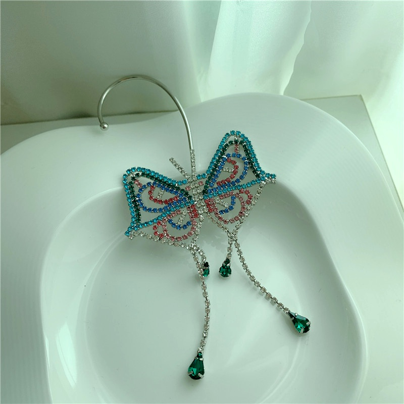 diamond butterfly earrings  NHYQ295027