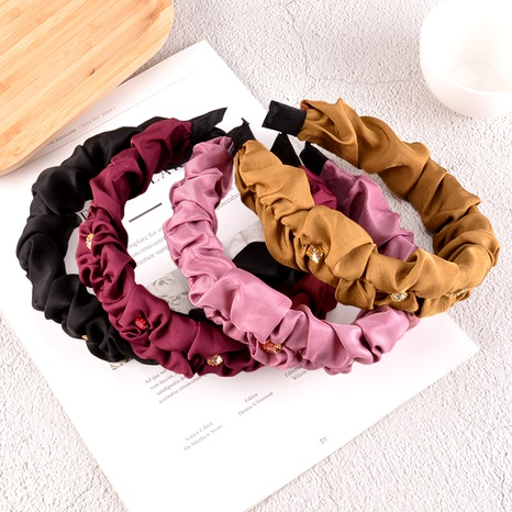 pure color fabric headband NHAQ295467's discount tags