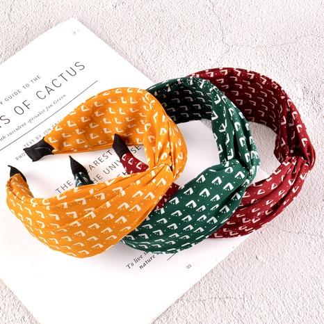 diadema de moda con estampado de ala ancha NHAQ295474's discount tags